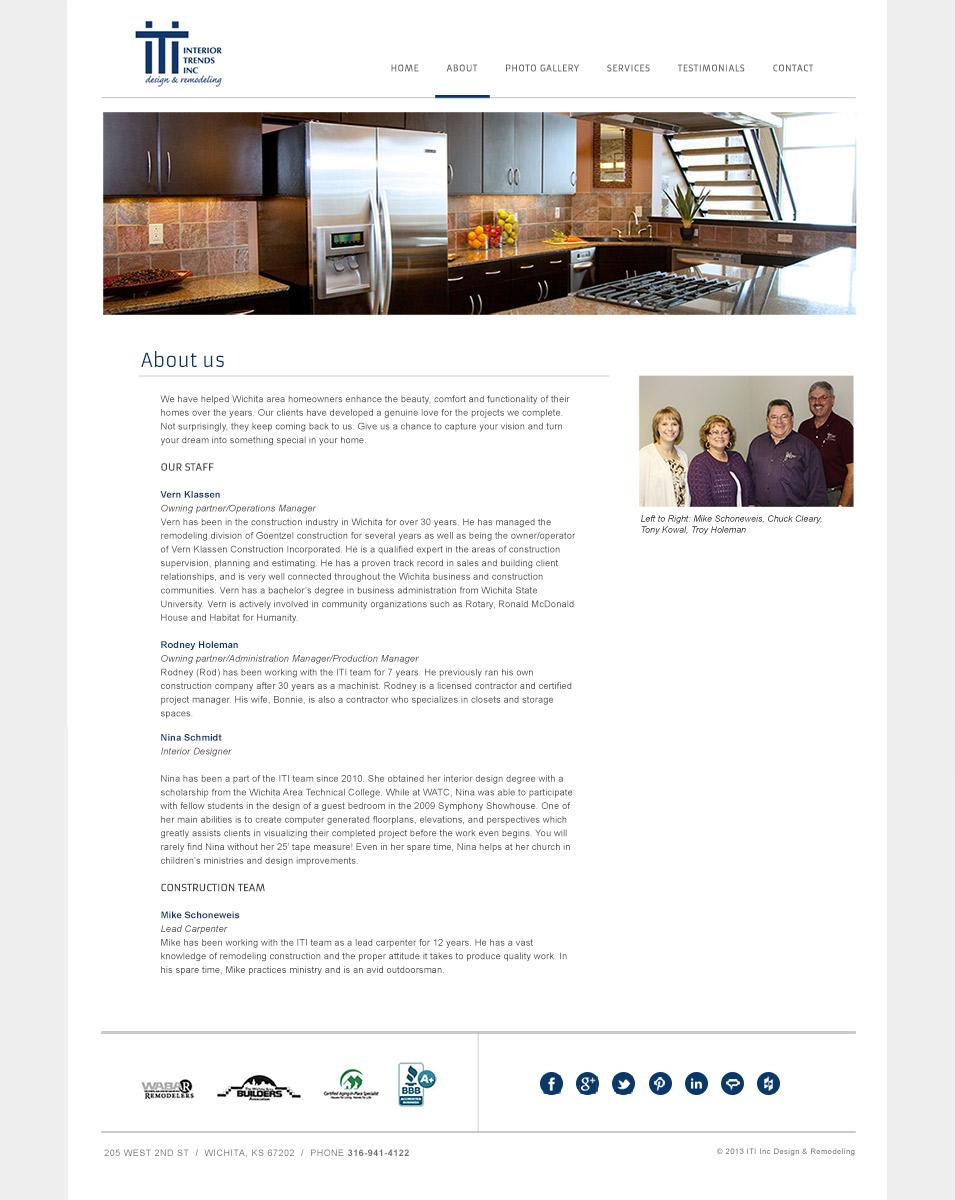 Interior trends baseline creative wichita web design for Interior design web app