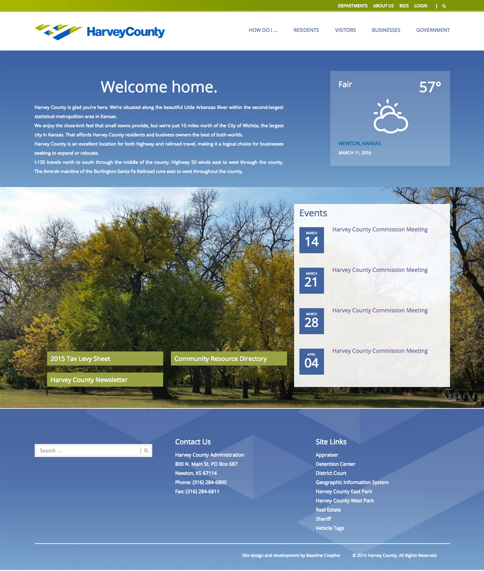 Harvey County Website