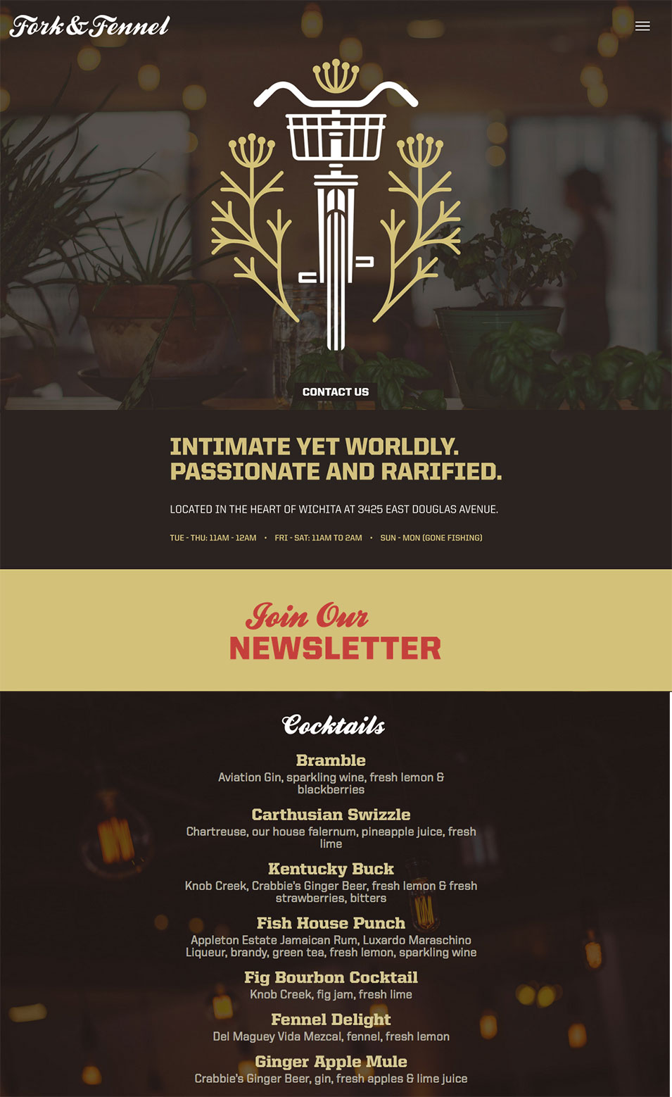 Fork & Fennel web design