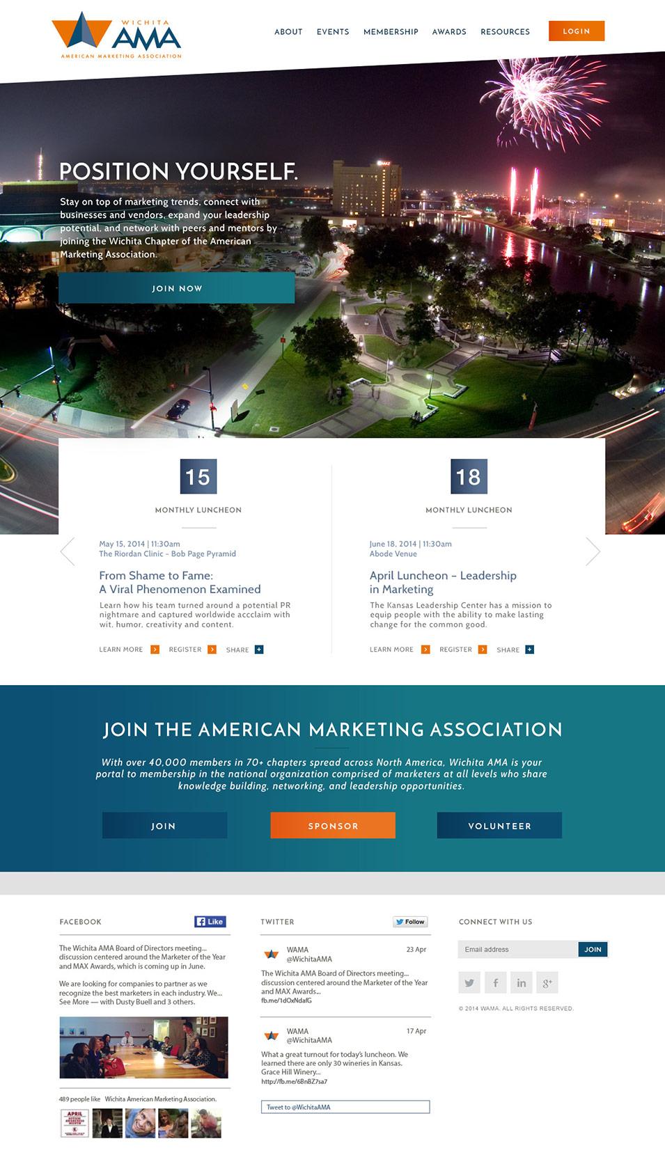 WAMA website design