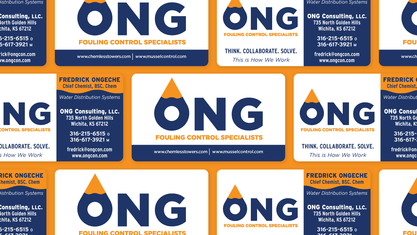 Business Card Design - ONG Fouling Control Specialists - Baseline Creative, Inc.