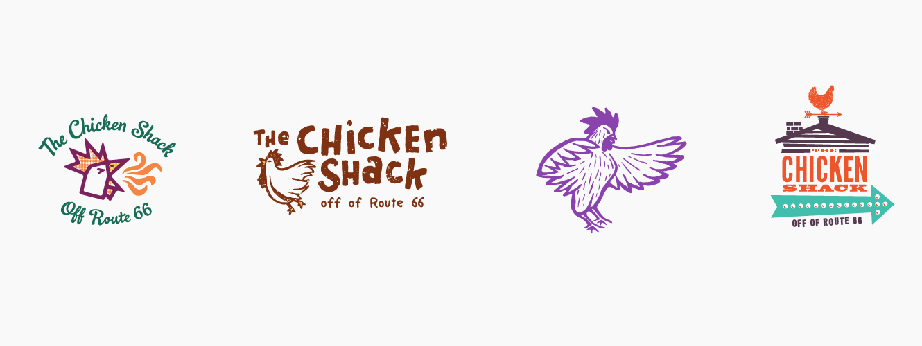 The Chicken Shack Logo Alternates