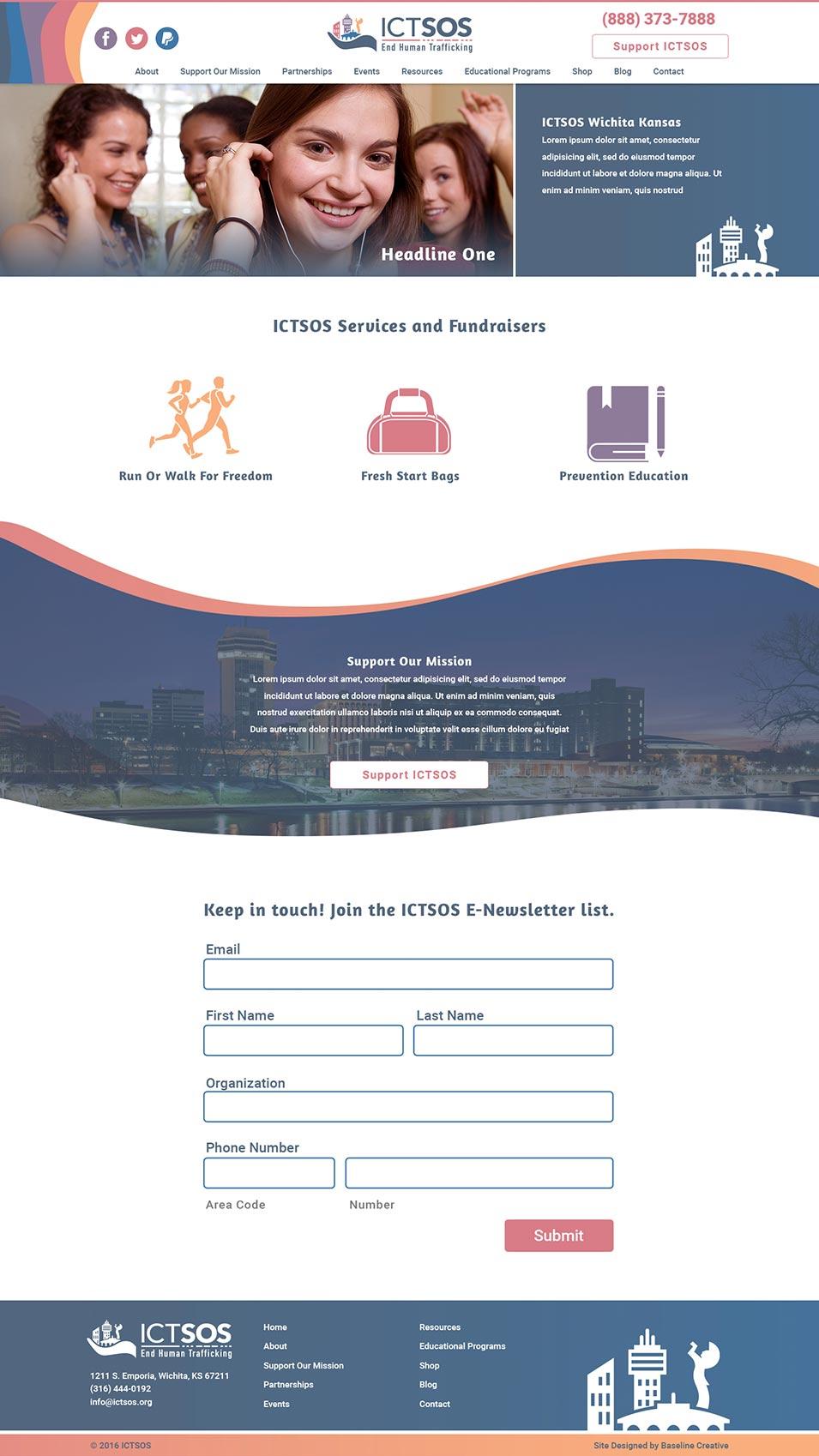 ICT SOS Homepage
