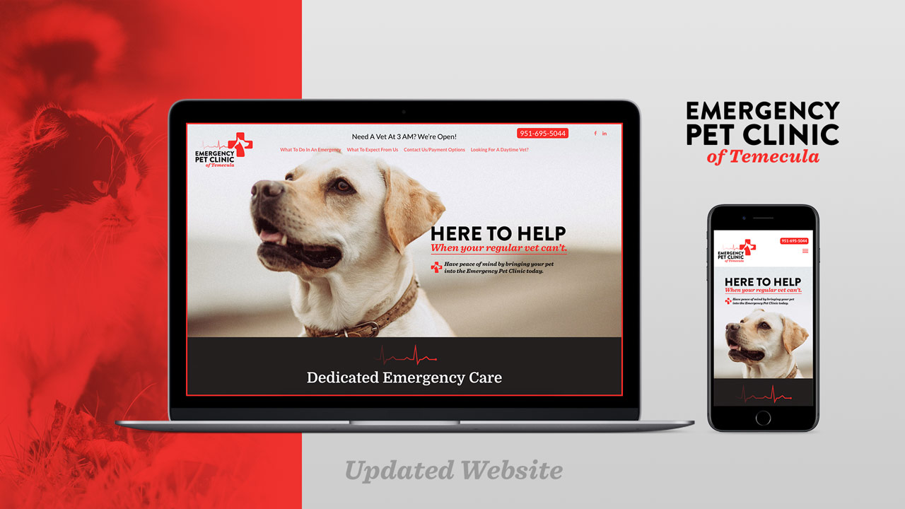 Emergency Pet Clinic Temecula California Web Design