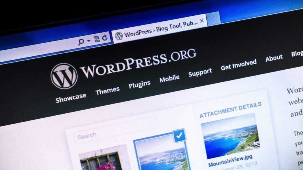 website maintenance screen on a wordpress site