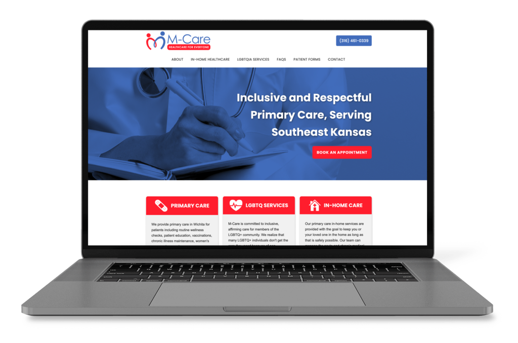M-Care Healthcare website